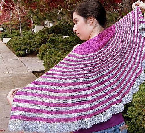 Ravelry Tunisian Lace Crochet Shaped Shawls Patterns