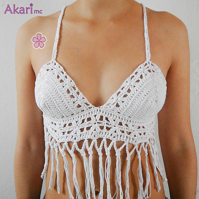 Ravelry: Festival top with fringes. ADABANA _ L08 pattern by Melissa ...