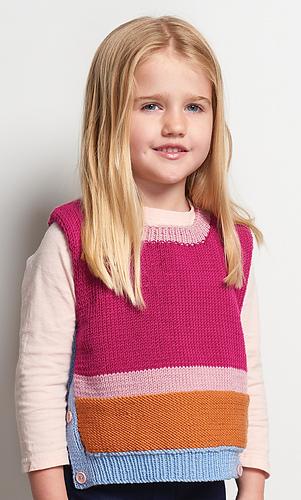 7b136247c29d  10 Child s Side Button Vest  by Patons Australia