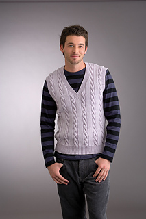 d9ac07a486071a Ravelry   17 Men s Cable Vee Neck Vest pattern by Patons Australia