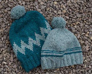 ed1e75d2fdb Ravelry  Chevron Bobble Hat pattern by A Yarn Story