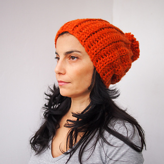 e7faab3c48d Ravelry  Knit look bulky hat with pom pom pattern by Ana D