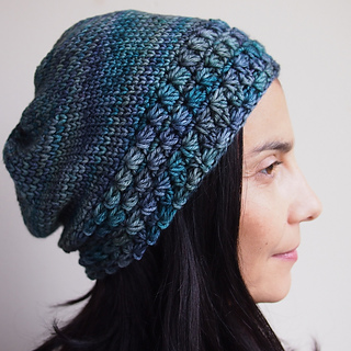 Ravelry  Star stitch slouchy hat with knit look pattern by Ana D 37e9130f3bb