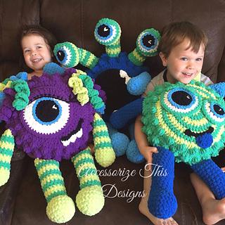 Crochet Pillow Monster