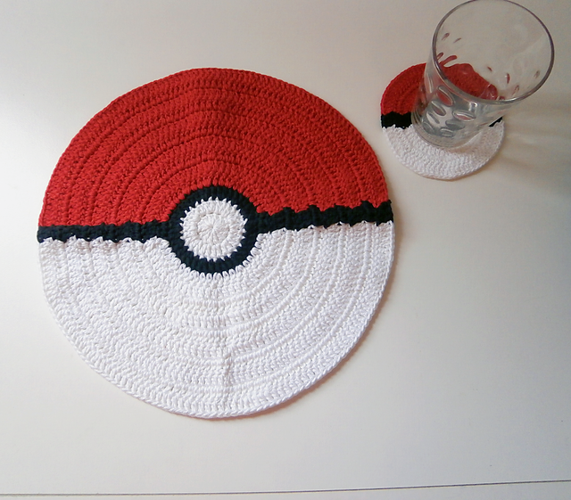 Ravelry: POKEMON placemat and coaster _ M56 pattern by Melissa Flores
