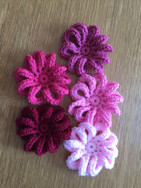 Ravelry Loopy Flower For February Pattern By Ali Crafts Designs