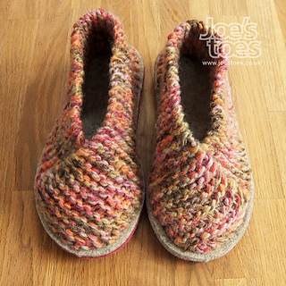 1b786ab4316a Ravelry  Cross-Over Knitted Slipper pattern by Amanda Blackwell
