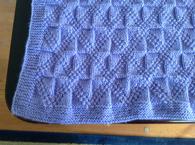 Ravelry Reversible Diamond Texture Baby Blanket Pattern By Alice Kalush