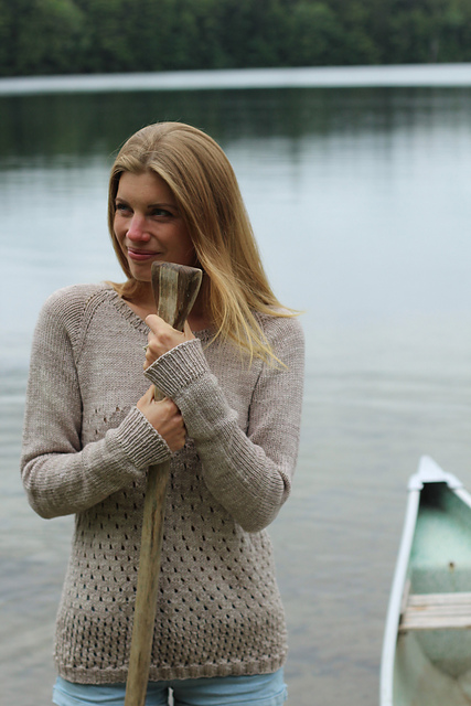 Campside pullover double knit wool pattern