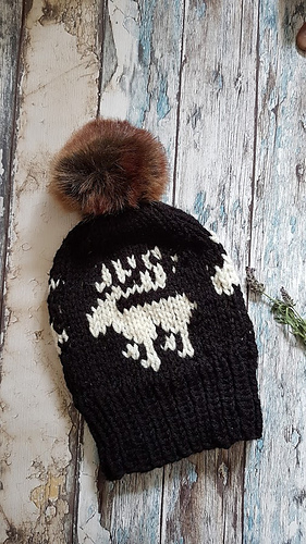Ravelry Fair Isle Reindeer Hat Pattern By Frisian Knitting