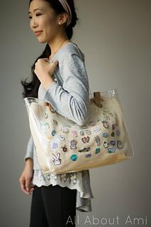 Ravelry: Enamel Pin Display Bag pattern by Stephanie Jessica Lau