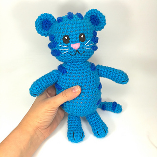 Ravelry  Blue Tiger like Daniel Tiger s Neighborhood Tigey pattern by  Allison Hoffman 02bd23f21af