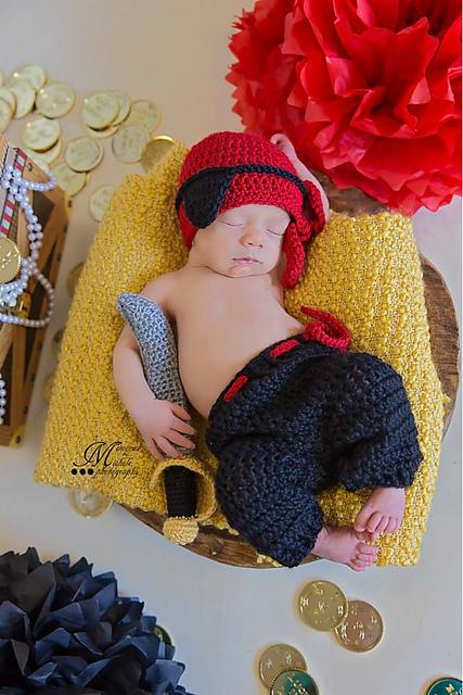 4322d6011 Newborn Pirate Outfit pattern by Amanda Kuhn