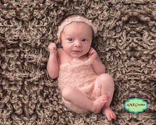 9b972ea8d Ravelry: Newborn Lace Romper and Tie Back Headband pattern by Amanda Kuhn