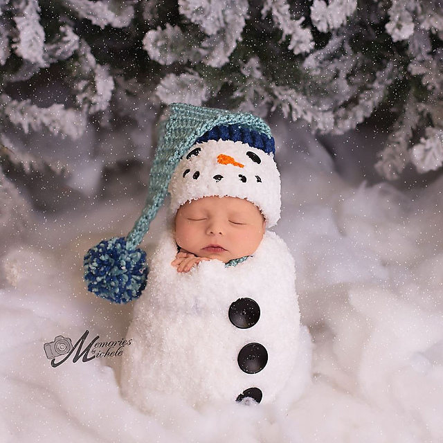 Ravelry Newborn Snowman Hat Scarf And Cocoon Pattern By Amanda Kuhn