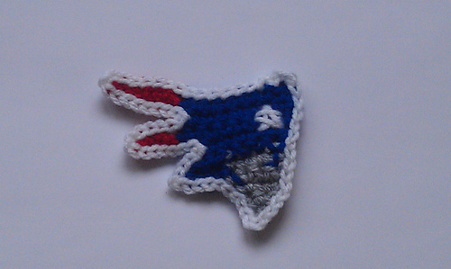 Free Crochet Pattern For New England Patriots Afghan : Ravelry: Patriots Applique pattern by Kristine Mullen