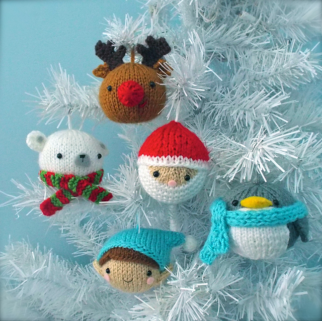 Christmas Balls Knit Ornament Pattern Set pattern by Amy Gaines