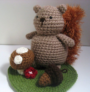 Amigurumi Woodland Animals Patterns : Ravelry: Squirrel and Woodland Amigurumi Playset Pattern ...