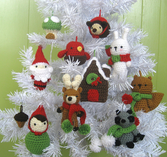 ravelry woodland christmas ornament crochet pattern set pattern by amy gaines