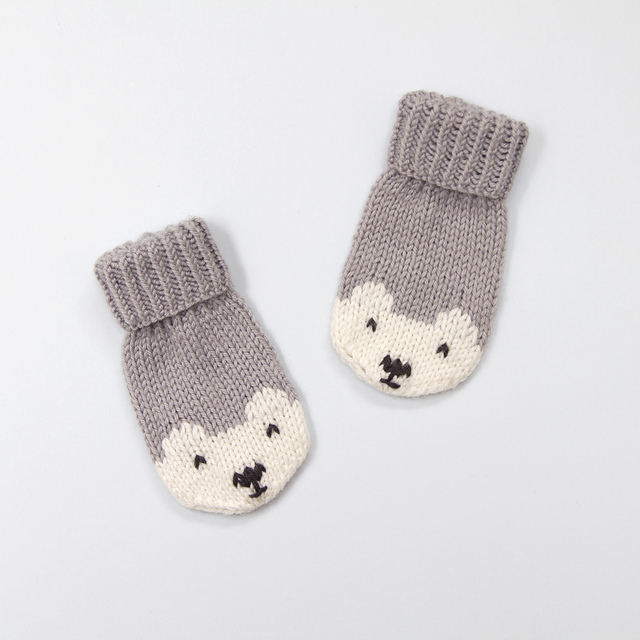 Ravelry: Penelope Polar Bear Mittens pattern by Button and Blue
