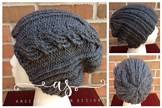 Ravelry Ribbed Cable Beanie Pattern By Angela Steffen