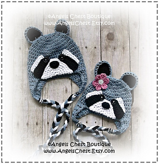 Ravelry  RACCOON Earflap Hat No. 56 pattern by Mary Angel Morris e384c7b9cb1