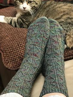 Longest Day Socks pattern by Ann Budd