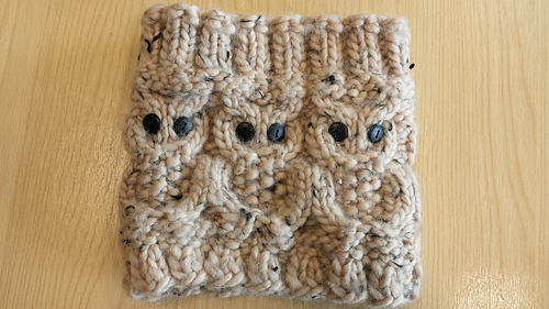 Ravelry: Owl Boot Cuffs pattern by Sarah Reynolds