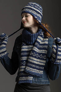 Fair Isle Scarf Hat Mittens Pattern By Rosemary Drysdale Ravelry