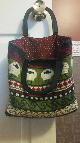 Ravelry: Fair Isle Sheep Bag pattern by Shirley Spencer