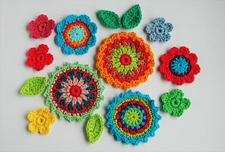 Crochet Flowers Tutorial By Carmen Heffernan : Ravelry: Flower Garden pattern by Carmen Heffernan