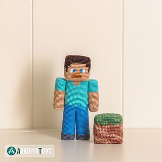 Ravelry Steve From Minecraft Pattern By Olka Novytska