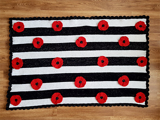 Remember Me Poppy Baby Blanket Afghan pattern by Crafting Happiness