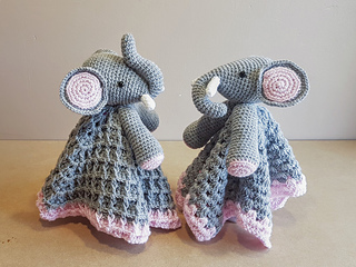 3d7e3b287be2f Ella The Elephant Baby Lovey pattern by Crafting Happiness