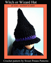 Witch-wizard-hat-crochet-pattern-all-sizes_small_best_fit