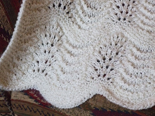 f727ac116d5 Ravelry  Feathered Baby Blanket pattern by Kaye Smith