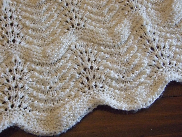 Ravelry Feathered Baby Blanket Pattern By Kaye Smith
