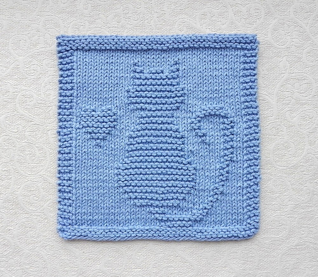 Ravelry Cat Heart Knit Dishcloth Pattern By Aunt Susan