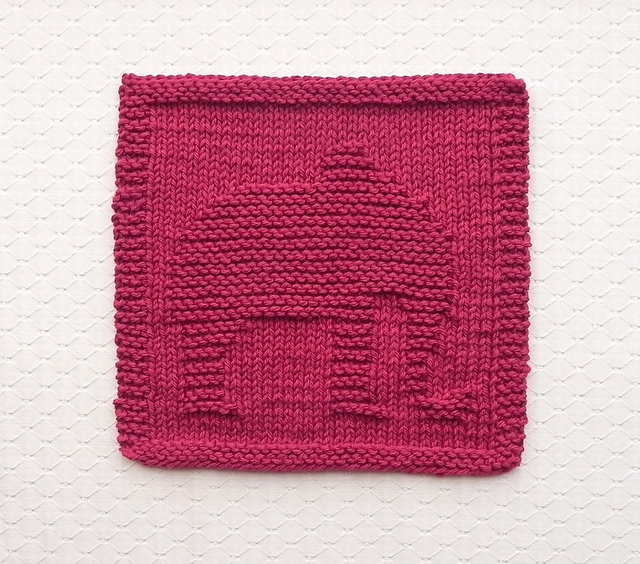 Ravelry Elephant Knit Dishcloth Pattern By Aunt Susan