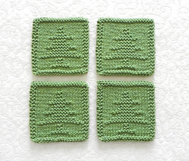 Ravelry Christmas Tree Coasters Pattern By Aunt Susan