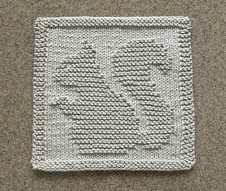 Ravelry Squirrel Knit Dish Cloth Pattern By Aunt Susan