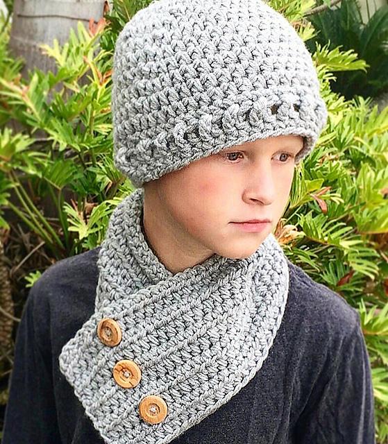 Ravelry: Beanie Hat Neck Warmer - Grayson pattern by Ava Girl Designs