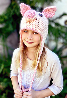 Ravelry  Piggy Hat - Piper pattern by Ava Girl Designs cd9eb73132e5