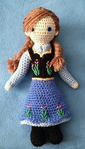 Crochet Elsa And Anna Dolls : Ravelry: Anna -