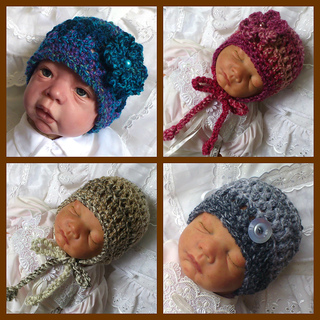 Ravelry  Chunky Baby Beanie   Earflap Hat  40 pattern by  Beautiful-Babys-Bonnets ee5a2c0b8f8