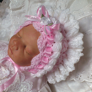 Ravelry: Frilly Bonnet for Baby Girls pattern by Beautiful ...
