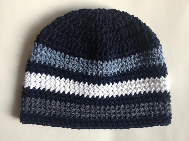 patterns   A. Marie s Ravelry Store.   Striped Beanie Hat f241b330e60