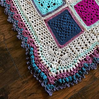Ravelry Vibrant Vintage Blanket Border Pattern By Rachele