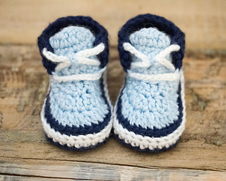 08158f81e41 Ravelry  Baby Boy Sneakers pattern by Hand Heart and Sole