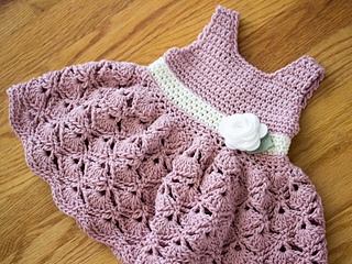 617f7b24c2f Ravelry  Baby Girl Shell Sundress pattern by Hand Heart and Sole